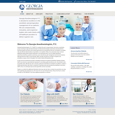 Georgia Anesthesiologists, P.C., Anesthesiology