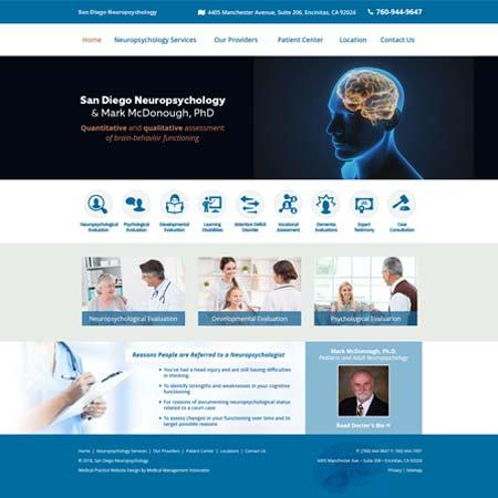 San Diego Neuropsychology, Neuropsychology
