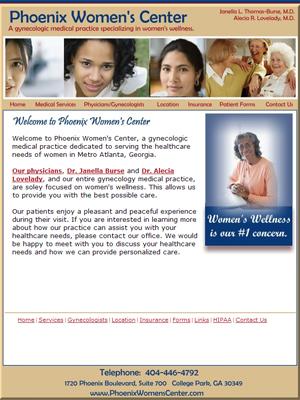 Phoenix Womens Center, Gynecology
