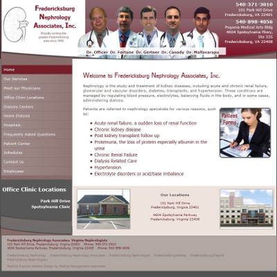 Fredericksburg Nephrology Associates, Nephrology
