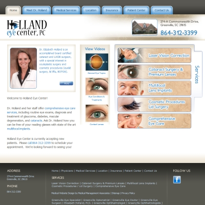 Holland Eye Center, Ophthalmology