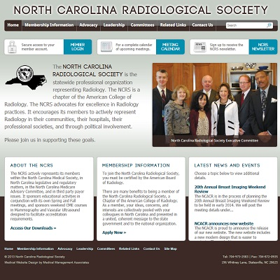 North Carolina Radiological Society, Radiology
