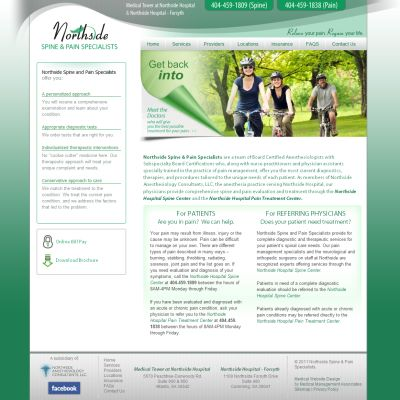 Northside Spine and Pain Specialists, Pain Management