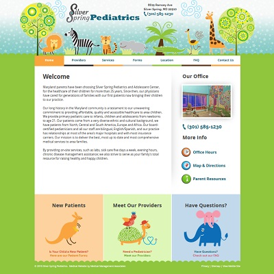 Silver Spring Pediatrics, Pediatrics