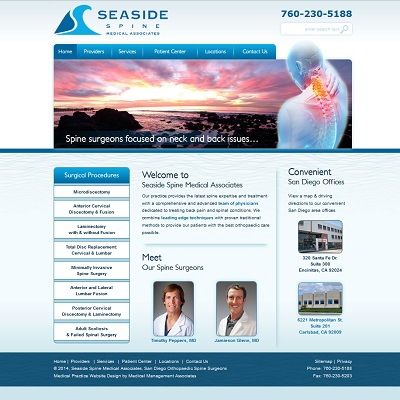 Seaside Spine Medical Associates, Neurosurgery