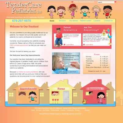 TenderCare Pediatrics, Pediatrics