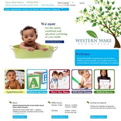 Western Wake Pediatrics, Pediatrics