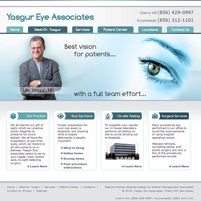 Yasgur Eye Associates, Ophthalmology