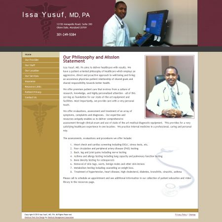 Issa Yusuf, MD, PA , Internal Medicine/Primary Care