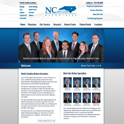 North Carolina Retina Associates, Ophthalmology