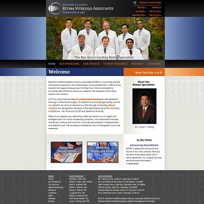 Northern California Retina Vitreous Associates, Ophthalmology