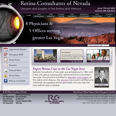 Retina Consultants of Nevada, Ophthalmology