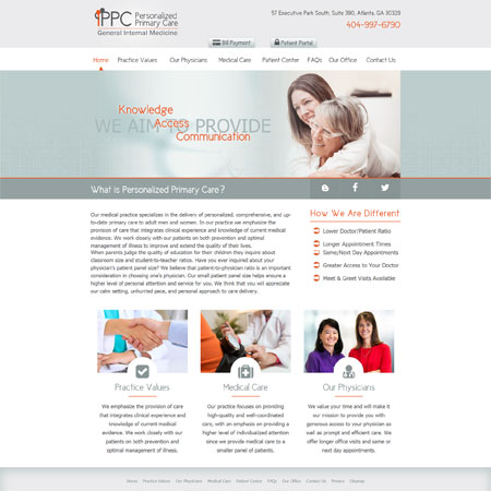 Personalized Primary Care Atlanta - Internal Medicine/Primary Care