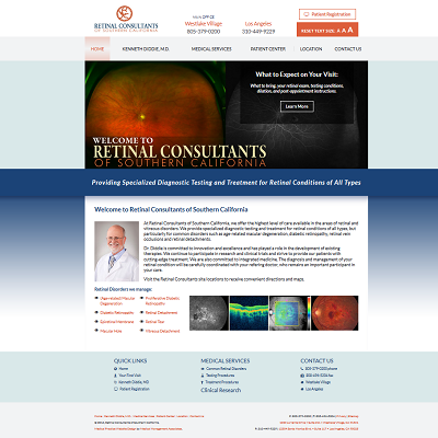 Retinal Consultants of Southern California, Ophthalmology
