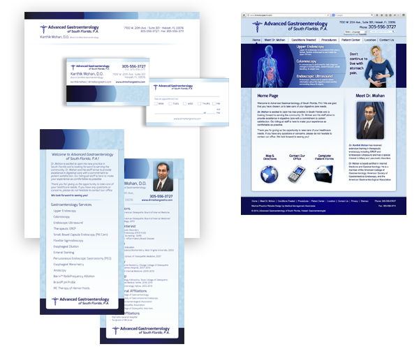 Advanced Gastroenterology of South Florida, P. A. Branding Package