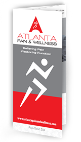 Optimized Tri-fold Brochure of Atlanta Pain and Wellness