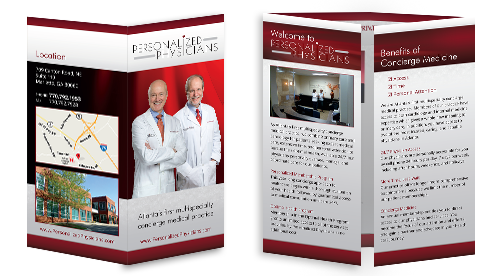 Optimized Double-gate fold Brochure of Personalized Physicians