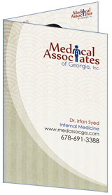 Optimized Bi-fold Brochure of Medical Associates of Georgia