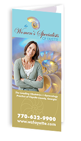Optimized Tri-fold Brochure of Women's Specialists of Fayette