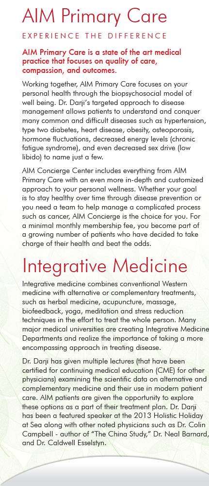 Panel 2 of Brochure of AIM Primary Care