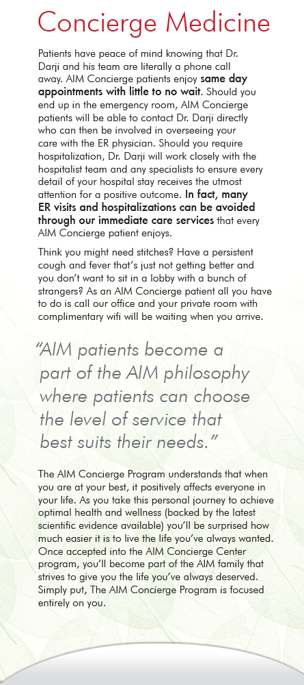 Panel 3 of Brochure of AIM Primary Care