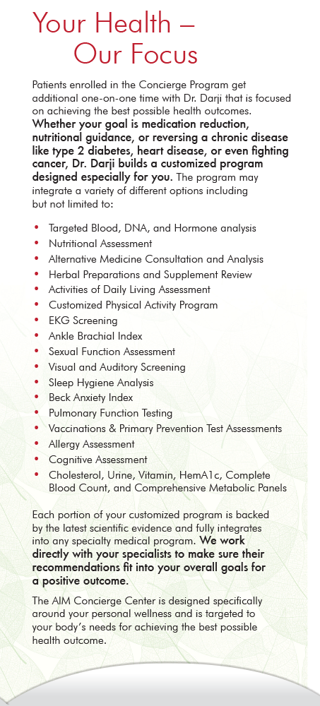 Page 4 of Brochure of AIM Primary Care