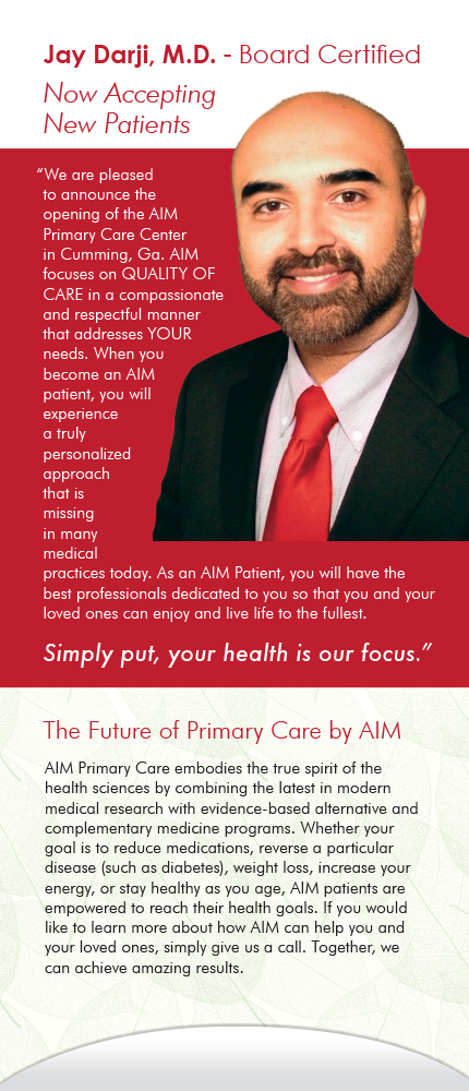 Panel 5 of Brochure of AIM Primary Care