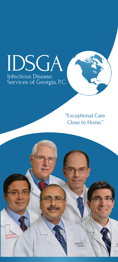 Panel 1 of Brochure of Infectious Disease Services of Georgia