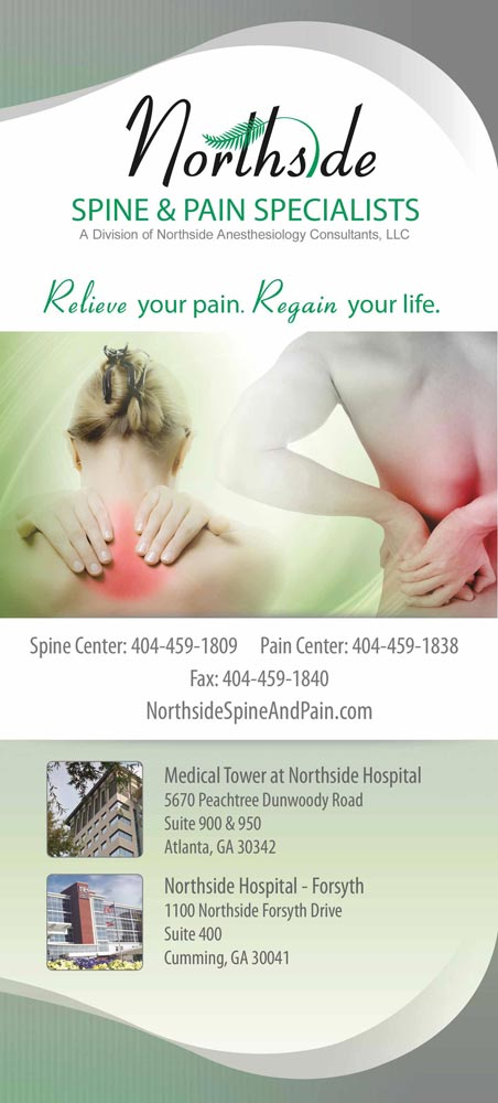Panel 1 of Brochure of Northside Spine & Pain Specialists