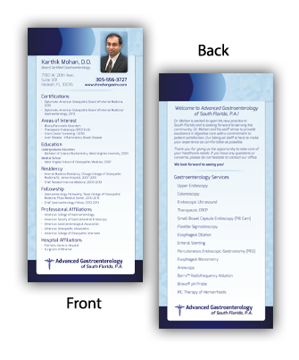 Advanced Gastroenterology of South Florida Rack Card