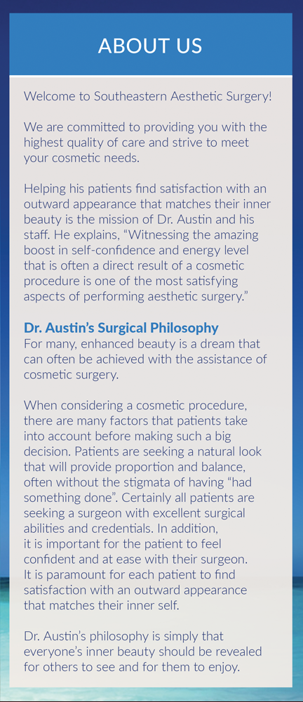 Page 2 of Brochure of Southeastern Aesthetic Surgery