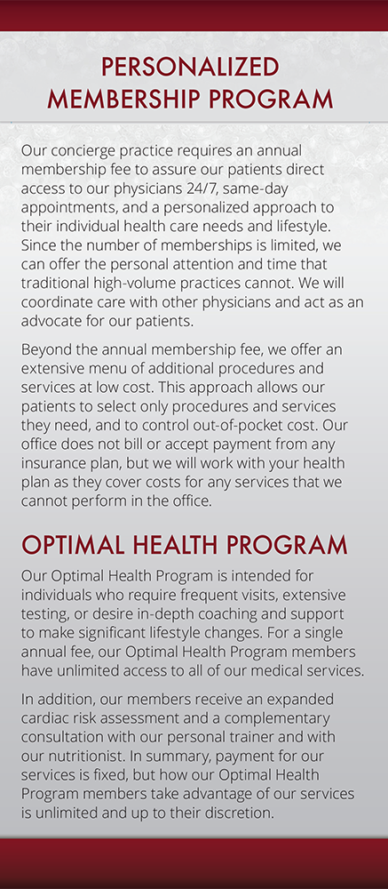 Page 3 of Brochure of Personalized Physicians