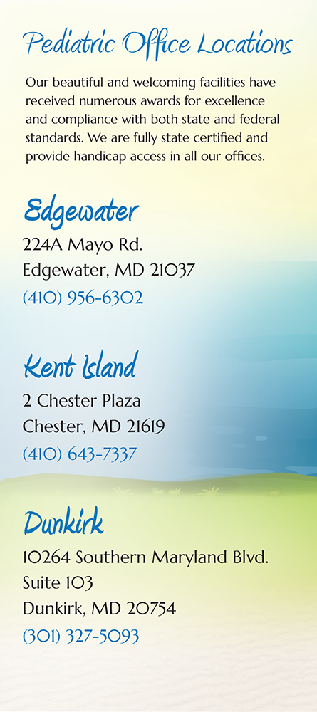 Panel 6 of Brochure of South River Pediatrics