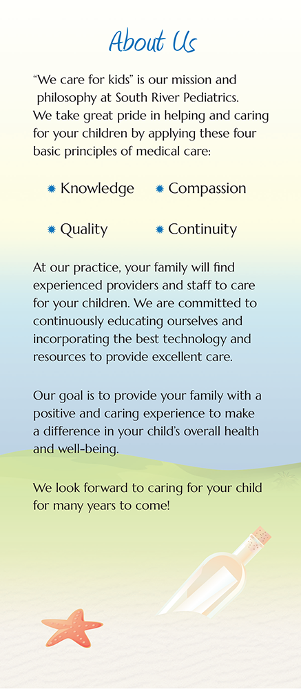 Page 2 of Brochure of South River Pediatrics