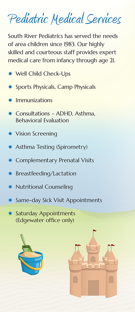 Panel 5 of Brochure of South River Pediatrics